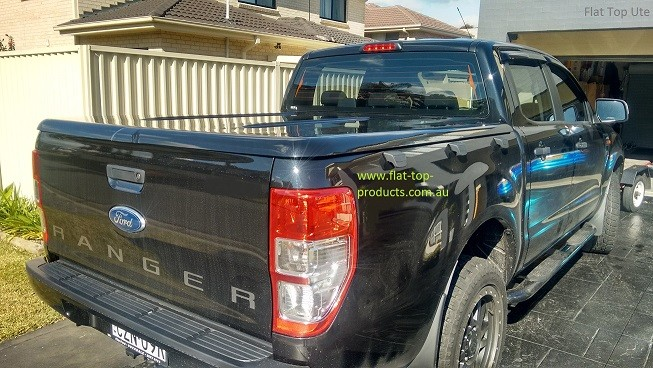 "Ford Ranger PU PX Dual cab  - 1 pce lid - painted ""Auto Remote Opening"